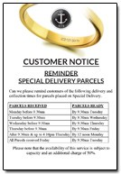 Customer Delivery Notice